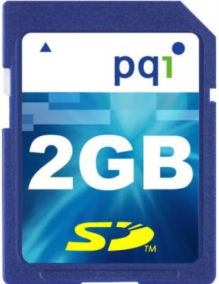 Карта памяти PQI SD 2GB Class2 (6AEA-002GSR35A) - общий вид