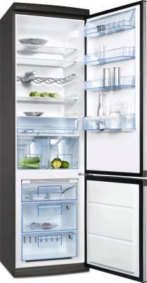 Холодильник с морозильником Electrolux ENB38633X - вид спереди