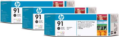 Комплект картриджей HP 91 (C9481A) - общий вид