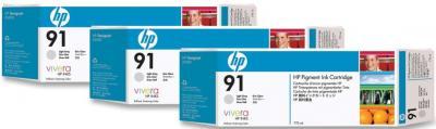 Комплект картриджей HP 91 (C9482A) - общий вид
