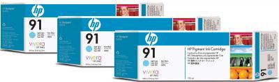 Комплект картриджей HP 91 (C9486A) - общий вид