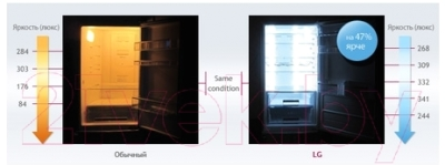 Холодильник с морозильником LG GA-B409SVQA