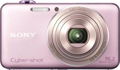 Компактный фотоаппарат Sony Cyber-shot DSC-WX50 (Pink) - Вид спереди