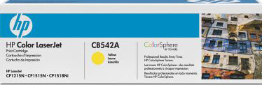 Тонер-картридж HP 125A (CB542A) - общий вид