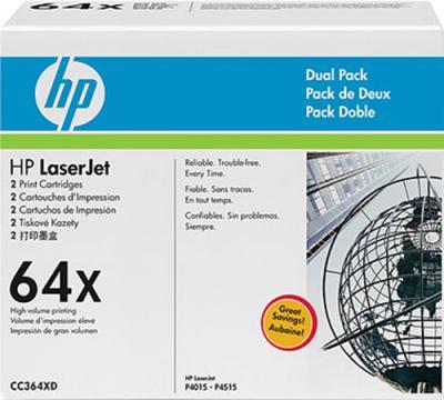Комплект тонер-картриджей HP 64X (CC364XD) - общий вид