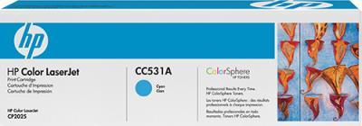 Тонер-картридж HP CC531A - общий вид