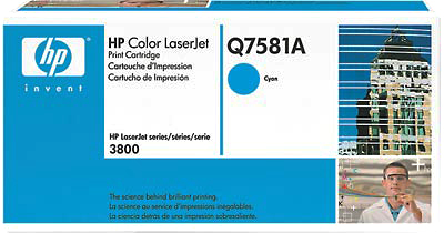 Картридж HP Q7581A - общий вид