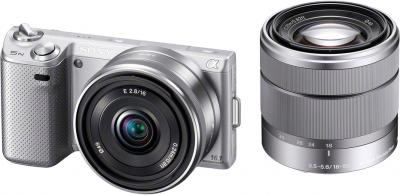 Беззеркальный фотоаппарат Sony NEX-5ND Silver - общий вид