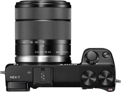 Беззеркальный фотоаппарат Sony NEX-7KB - Вид сверху