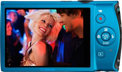 Компактный фотоаппарат Canon IXUS 230 HS Blue - Вид сзади