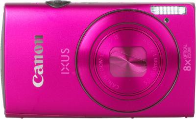 Компактный фотоаппарат Canon IXUS 230 HS (розовый) - Вид спереди