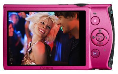 Компактный фотоаппарат Canon IXUS 230 HS (розовый) - Вид сзади