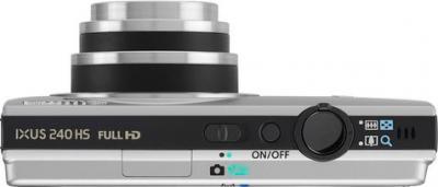 Компактный фотоаппарат Canon IXUS 240 HS Silver - Вид сверху