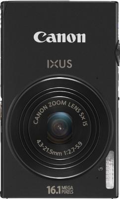 Компактный фотоаппарат Canon IXUS 240 HS Black - Вид спереди