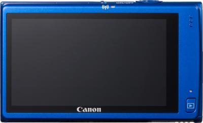 Компактный фотоаппарат Canon IXUS 240 HS (синий) - Вид сзади