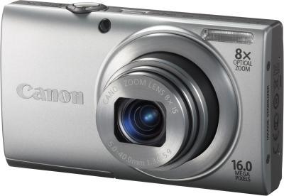 Компактный фотоаппарат Canon PowerShot A4000 IS Silver - Вид спереди