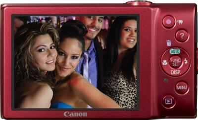 Компактный фотоаппарат Canon PowerShot A4000 IS Red - общий вид