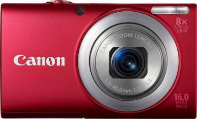Компактный фотоаппарат Canon PowerShot A4000 IS Red - вид спереди