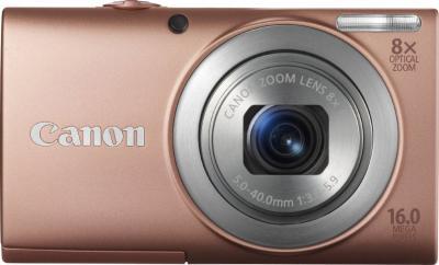 Компактный фотоаппарат Canon PowerShot A4000 IS Pink - Общий вид