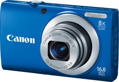 Компактный фотоаппарат Canon PowerShot A4000 IS Blue - Вид спереди