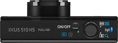 Компактный фотоаппарат Canon IXUS 510 HS Black - Вид сверху