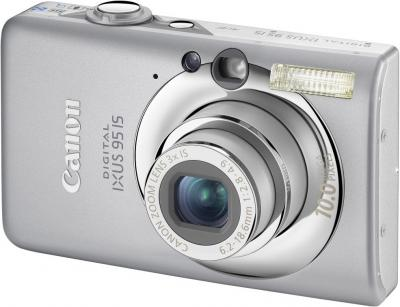 Компактный фотоаппарат Canon Digital IXUS 95 IS (PowerShot SD1200 IS) - Вид спереди