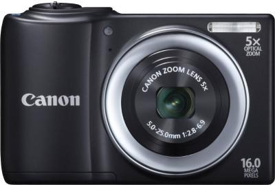 Компактный фотоаппарат Canon PowerShot A810 Black - Вид спереди