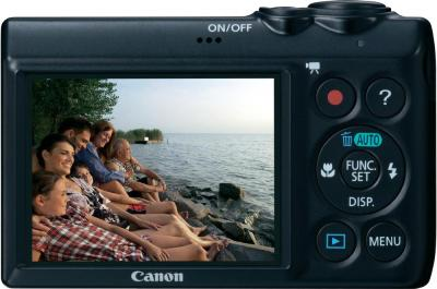 Компактный фотоаппарат Canon PowerShot A810 Black - Вид сзади