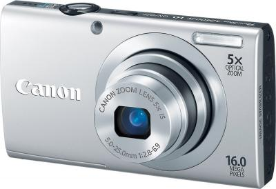 Компактный фотоаппарат Canon PowerShot A2400 IS Silver - Вид спереди