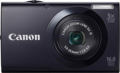 Компактный фотоаппарат Canon PowerShot A3400 IS Black - Вид спереди