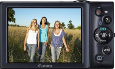 Компактный фотоаппарат Canon PowerShot A3400 IS Black - Вид сзади