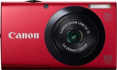 Компактный фотоаппарат Canon PowerShot A3400 IS Red - вид спереди