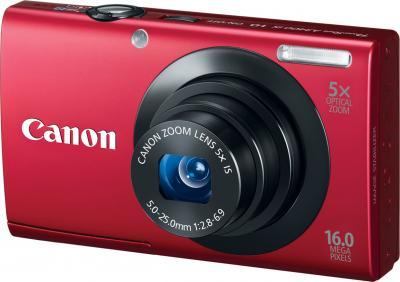 Компактный фотоаппарат Canon PowerShot A3400 IS Red - общий вид