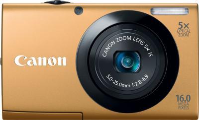 Компактный фотоаппарат Canon PowerShot A3400 IS Gold  - Вид спереди