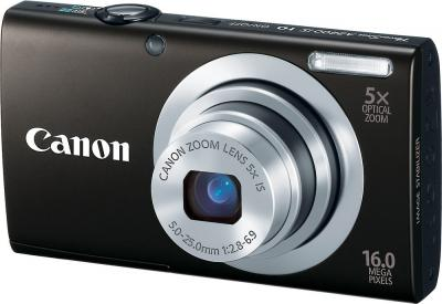 Компактный фотоаппарат Canon PowerShot A2400 IS Black - Вид спереди