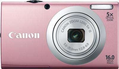 Компактный фотоаппарат Canon PowerShot A2400 IS Pink - Вид спереди