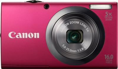 Компактный фотоаппарат Canon PowerShot A2300 Red - Вид спереди