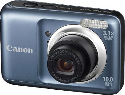 Компактный фотоаппарат Canon PowerShot A800 Gray - Вид спереди