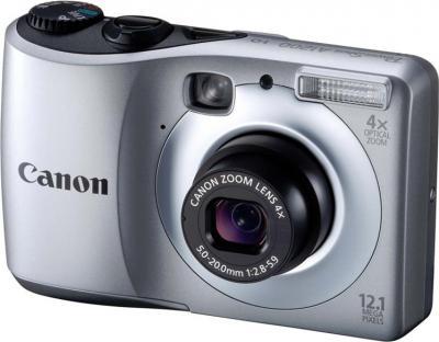 Компактный фотоаппарат Canon PowerShot A1200 Silver - Вид спереди