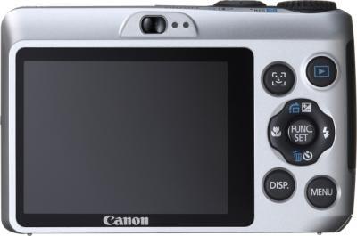 Компактный фотоаппарат Canon PowerShot A1200 Silver - Вид сзади