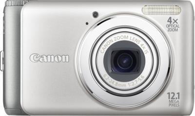 Компактный фотоаппарат Canon PowerShot A3100 IS Silver - Вид спереди