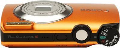 Компактный фотоаппарат Canon PowerShot A3200 IS Orange - Вид сверху