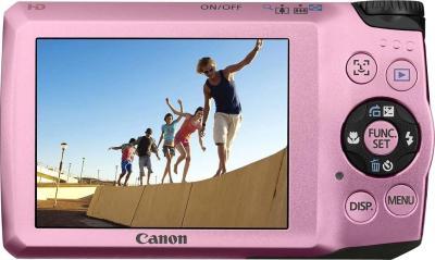 Компактный фотоаппарат Canon PowerShot A3200 IS Pink - Вид сзади: дисплей