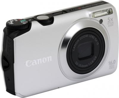 Компактный фотоаппарат Canon PowerShot A3300/3350 IS Silver - Вид спереди