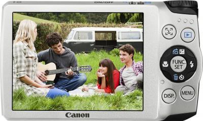 Компактный фотоаппарат Canon PowerShot A3300/3350 IS Silver - Вид сзади