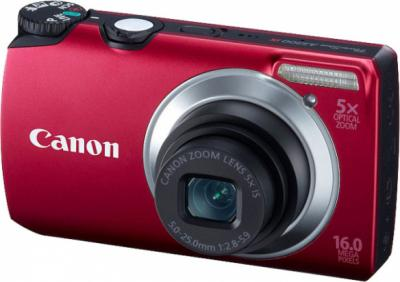 Компактный фотоаппарат Canon PowerShot A3300/3350 IS Red - Вид спереди