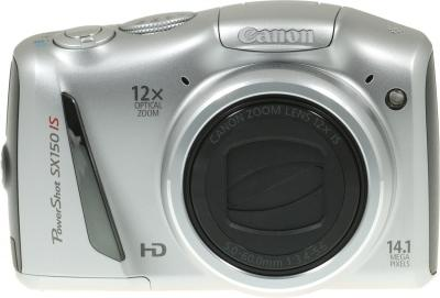 Компактный фотоаппарат Canon PowerShot SX150 IS Silver - Вид спереди