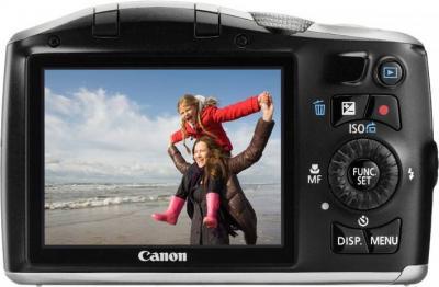 Компактный фотоаппарат Canon PowerShot SX150 IS Silver - Вид сзади