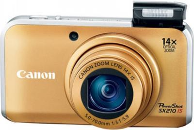 Компактный фотоаппарат Canon PowerShot SX210 IS Gold - Общий вид