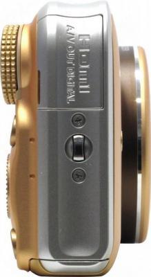 Компактный фотоаппарат Canon PowerShot SX210 IS Gold - Вид сбоку